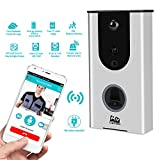 6 different ring tones WiFi Enabled Smart Wi-Fi Doorbell | Real-Time Video & Speaker| Wireless Internet & Smartphone Access | Built-In Motion Detector and Passive Alarm | Easy Installation