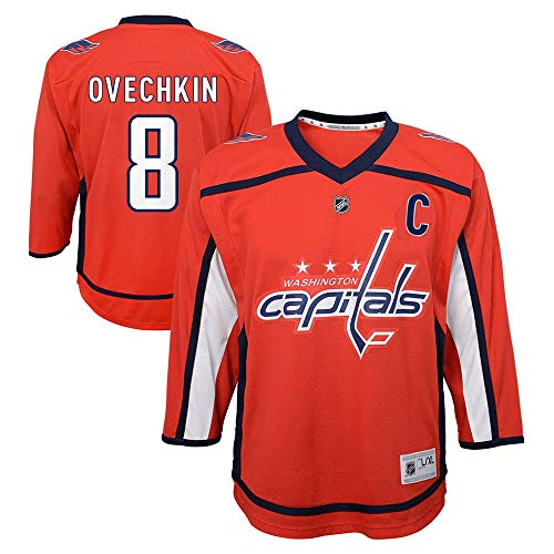0b0dbf27cc3 Outerstuff Alexander Ovechkin Washington Capitals NHL Kids 4-7 Red Home  Player Jersey (One Size 4-7)