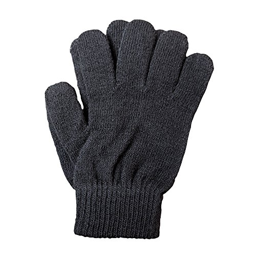 A&R Sports Knit Gloves, Black, One (Figure Skating Gloves)