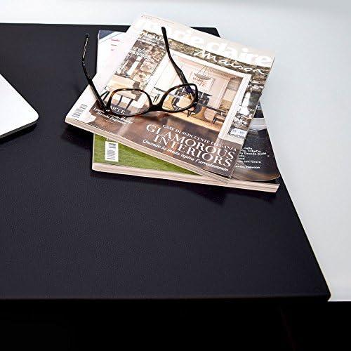 Eglooh – ADAMANTIS – Schreibunterlage aus Leder mit rutschfester Stahlstruktur, für Büroschreibtische und Arbeitszimmer - Schwarz - 70x50 - Made in Italy