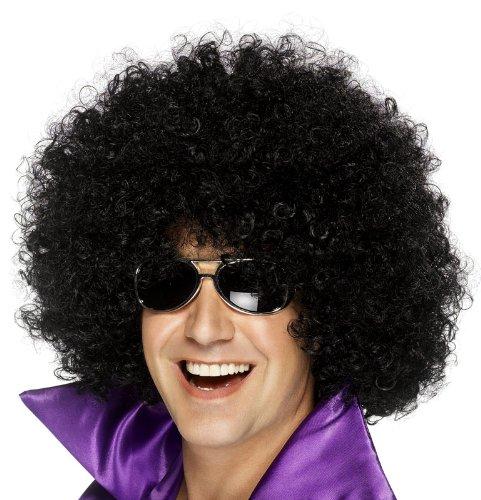 Smiffy's Afro Mega Huge Wig, Black, One (Huge Afro Wig)
