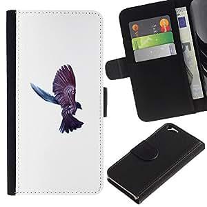 KLONGSHOP // Tirón de la caja Cartera de cuero con ranuras para tarjetas - Cuervo Cuervo Pájaro - Apple Iphone 6 //