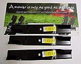 3 USA XHT HD BLADES FOR CUB CADET 01005337 02005018 942-04416 HIGH LIFT 54'' DECK