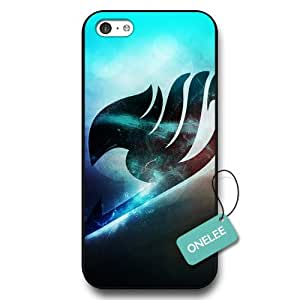 Onelee(TM) Fairy Tail Logo iPhone 5C Case - Japanese Anime iPhone 5C Cover - Black04