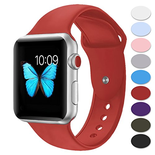Price comparison product image Sport Band For Apple Watch 42mm 38mm(42SM Red)
