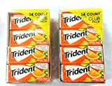 Trident Tropical Twist Sugar Free Gum 2/14 Pack Boxes 18 Pcs Per Pack Total 504 Pcs