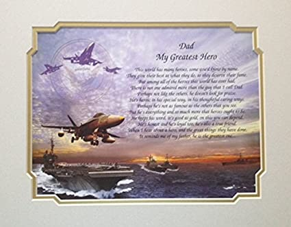 Amazon Navy Gift For Dad My Greatest Hero Sentimental Poem