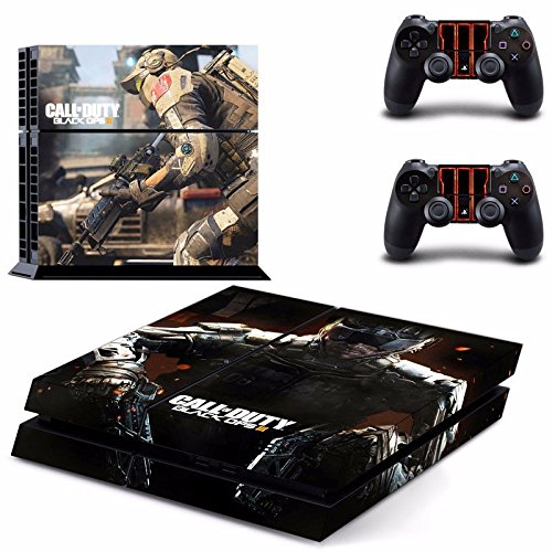 Hambur® PS4 Console Designer Skin for Sony PlayStation 4 System plus Two(2) Decals for: PS4 Dualshock Controller --- Call of Duty Black Ops 3 Design ()