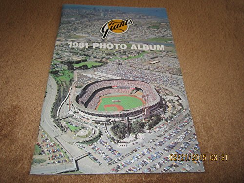 (San Francisco Giants 1981 Baseball photo album)