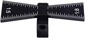 QWORK Dovetail Marker, Carbon Steel Dovetail Marking Jig saddle Marker, Hand Cut Wood Joints Gauge Dovetail Guide Tool with Scale