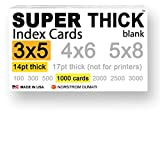 "1,000 SUPER THICK index cards / 3""x5"" / 14pt"