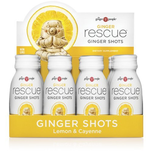 Wellness Beverage - The Ginger People Rescue Shots, Lemon & Cayenne, 2 Fluid Ounce, 12-pack