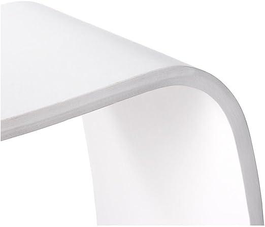 Kokoon LS00210WH Tabouret Design en Mitch Blanc Bois f7yIY6bgv