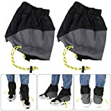 WINOMO Outdoor Gaiters Outdoor Waterproof Ankle Walking Gaiters Hiking (Black) 1 Pairs