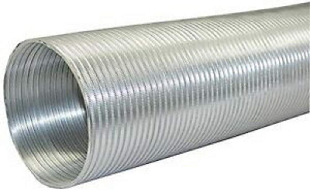 8ft 8 Builders Best 110412 BDB110412 Semi-Rigid Aluminum Duct SILVER 10 dia