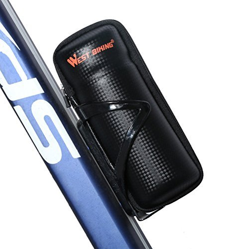 (Yopoon West Biking Zip Case Tool Bag for Water Bottle Cage Black)