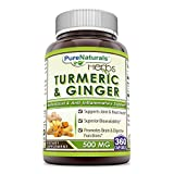 Pure Naturals Turmeric Plus Ginger 500 mg, Capsules -Antioxidant Power – Provides Anti-Inflammatory Support (360 Count) For Sale