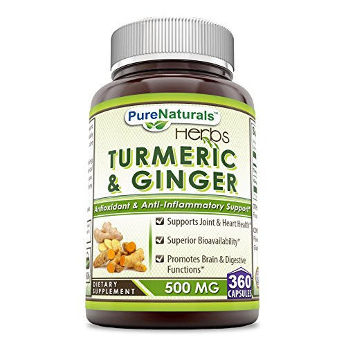 Pure Naturals Turmeric Plus Ginger 500 mg, Capsules -Antioxidant Power – Provides Anti-Inflammatory Support 360 Count