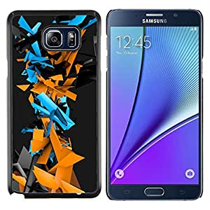 EJOOY---Cubierta de la caja de protección para la piel dura ** Samsung Galaxy Note 5 5th N9200 ** --Patrón Geometría abstracta del Cyber