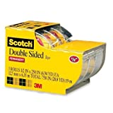 double sided tape non permanent - 3136 Scotch Double Sided Tape with Dispenser - 0.50