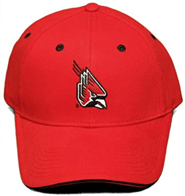 NEW!! Ball State Cardinals Adjustable Back Cap - Embroidered Hat from NCAA Signatures