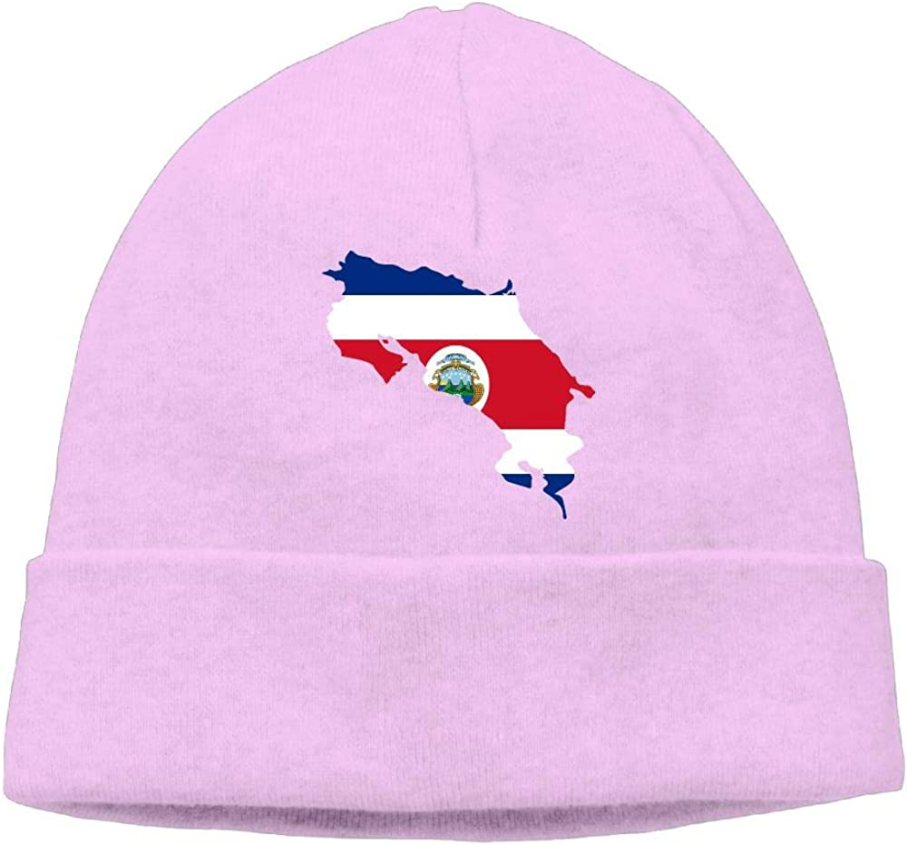 BF5Y3z/&MA Unisex Costa Rica Map Knitting Hat Winter Skull Cap
