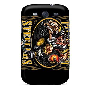 Perfect Hard Phone Case For Samsung Galaxy S3 (nXe14289Nvxg) Provide Private Custom Colorful Pittsburgh Steelers Pattern