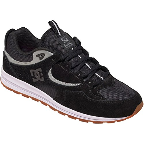 DC Mens Kalis Slim S Shoes, Black/Grey, 9D