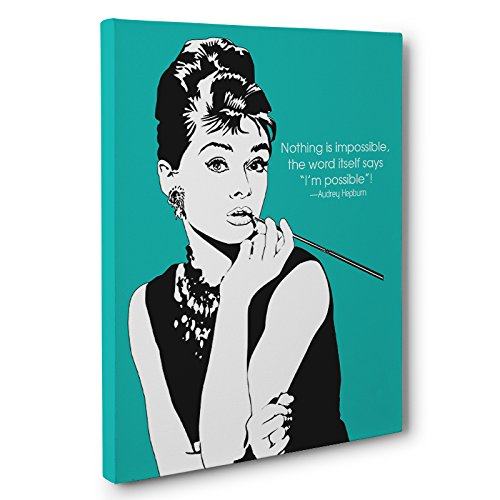 Amazon.com: Audrey Hepburn Quotes Canvas Wall Art: Handmade