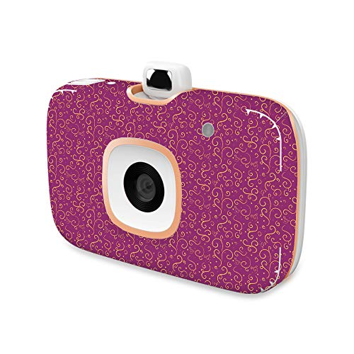 MightySkins Skin Compatible with HP Sprocket 2-in-1 Photo Printer - Magenta Swirls | Protective, Durable, and Unique Vinyl Decal wrap Cover | Easy to Apply, Remove | Made in The USA