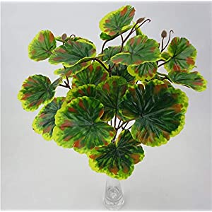 SMALL-CHIPINC - 2pcs Artificial Plants Begonia Leaves Fake Foliage Flowers Artificial Trees Wedding Decoration Suculentas Artificiais 9