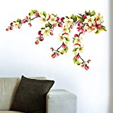 Decals Design 'My Blossom Love' Wall Sticker (PVC Vinyl, 70 cm x 50 cm),Multicolour