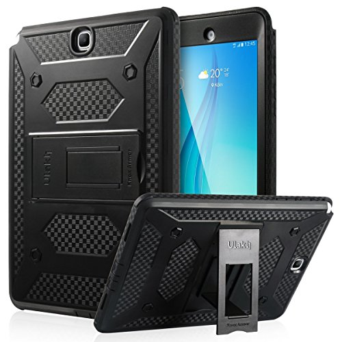 ULAK Samsung Galaxy Tab A 9.7 SM-T550 SM-P550 Case [KNOX ARMOR] Rugged Dual Layer Hybrid Protective Case Built with Kickstand for Samsung Galaxy Tab A 9.7 inch - (Black)