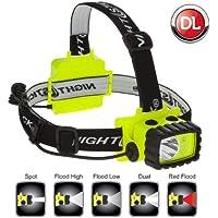 Nightstick xpp-5456g Intrínsecamente seguro permissible dual-light multifunción linterna frontal, color verde