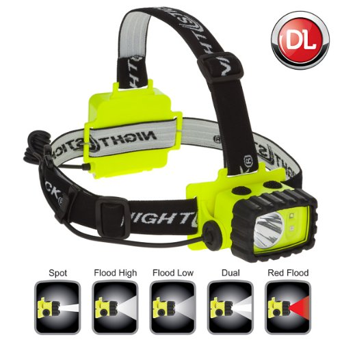 Nightstick XPP-5456G Intrinsically Safe Permissible Dual-Light Multi-Function Headlamp, Green by Nightstick (Image #7)