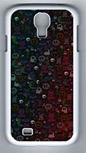 Halloween Monsters Polycarbonate Hard Case Cover for Samsung Galaxy S4/Samsung Galaxy I9500 White