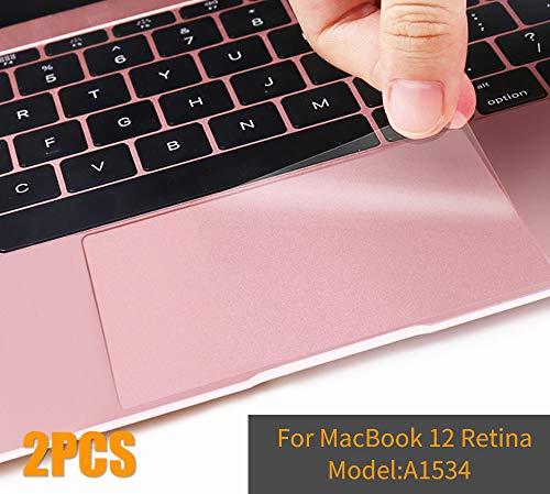 MacBook 12 Trackpad Skin, CASEBUY Clear Matte Anti-Scratch Trackpad Protector Cover Skin MacBook 12-inch A1534 Retina Display (2015/2016/2017 Version), 2-Pack