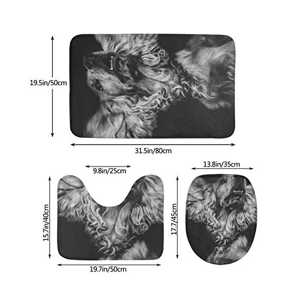 GHWSgGN English Cocker Spaniel Dog Bathroom Rug Mats Set 3 Piece Fashion Anti-Skid Pads Bath Mat + Contour + Toilet Lid Cover 2