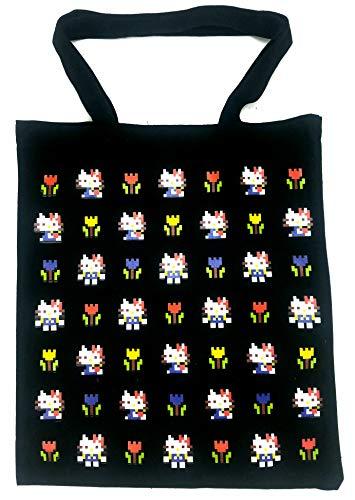 Neko Neko Tote double-sided printing Hello Kitty tote Hello kitty bag Black Tote bag kitty tote kitty -