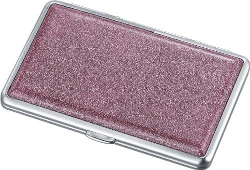 Visol Products Limelight Glitter Double Sided Cigarette Case, Hot Pink