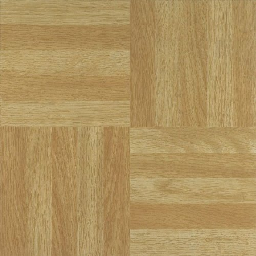 Achim Home Furnishings FTVWD20420 Nexus 12-Inch Vinyl Tile, Wood Four Finger Square Parquet, 20-Pack