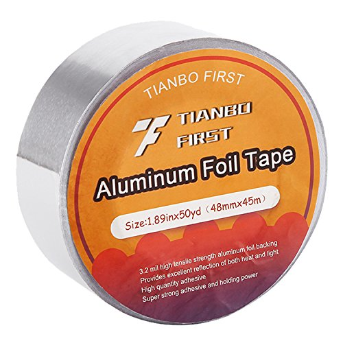 Professional Aluminum Foil Tape, 3.2 mil, 1.88 Inches x 50 Yards HVAC Tape - Mil Aluminum Foil
