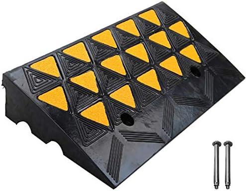 ScinoTec ゴム縁石敷居 Kerb ランプランプ 高さ2.5インチ 1パック 1チャンネル カーブサイドブリッジランプ ドック ガレージ 倉庫の積載に 23.6 X 12.6 X 4 Inch