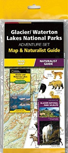Glacier/Waterton Lakes National Parks Adventure Set by Waterford Press - Lakes Waterford Map
