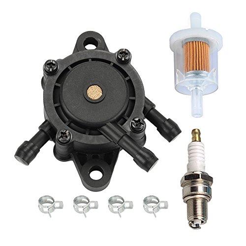 (HIPA 16700-Z0J-003 Fuel Pump with Fuel Filter for Honda EB11000 EN2000 EN2500 Generator GC135 GC160 GC190 GX610 GX620 GX670 GXV530 GXV610 GXV620 GXV670 Engine)