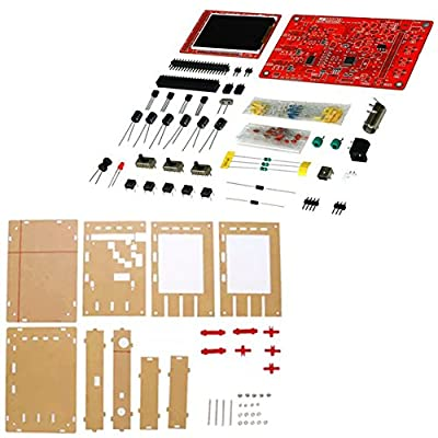 "GeeBat JYE DSO138 2.4"" TFT 1Msps Digital Oscilloscope Kit Open Source with DIY Parts, Probe, Acrylic DIY Case Cover 13804K (SMD not-soldered)"
