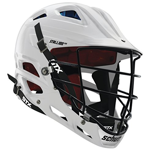 STX Lacrosse Stallion 500 Helmet, White, Medium