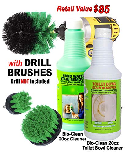 - Bio-Clean Products: Hard Water Spot Remover and Toilet Bowl Cleaner