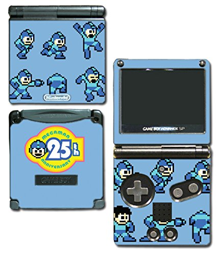 Megaman 25th Anniversary Special Edition Mega Rock Man Rockman Video Game Vinyl Decal Skin Sticker Cover for Nintendo GBA SP Gameboy Advance System