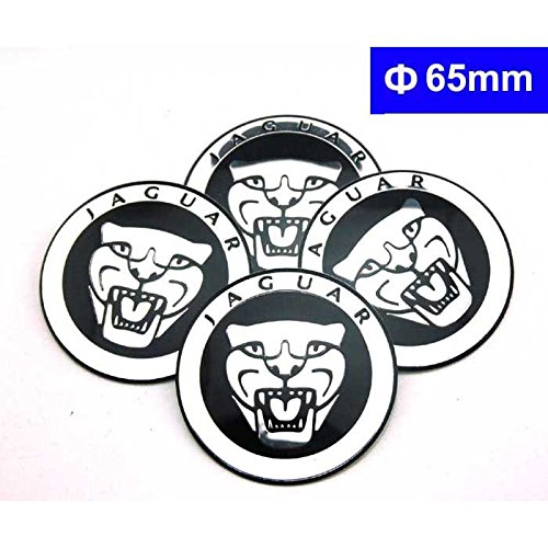 4pcs C081 65mm Car Styling Accessories Emblem Badge Sticker Wheel Hub Caps Centre Cover JAGUAR XF XJ XJS XK S-TYPE X-TYPE